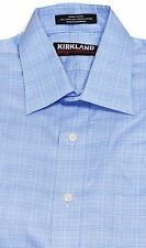 Kirkland Non Iron Mens Dress Shirt Spread Collar 16 17 Wrinkle Free 80s 2Ply