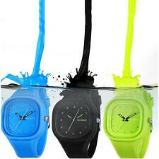 Kid Girl Boy Candy Color Sport Analog Quartz Wristwatches Watch Waterproof Hot .