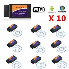 LOT 10 ELM327 V2.1 OBD2 Bluetooth WIFI Car Auto Diagnostic Interface Scanner BU