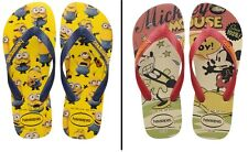 Havaianas Flip Flops for Women and Men Unisex Made in Brazil - Minions Mickey