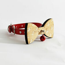 Dog Bow Tie in Wood Lobster Carving Dog Bow Tie, Fashion, Puppy Diamante Collar