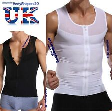 Mens Powerful Slimming Compression Vest Flat Chest Shaper for Gynecomastia Moobs