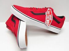 NIB VANS OLD SKOOL (C&P) RACING RED BLACK SKATE SHOES SIZE 12 MENS LACE UP