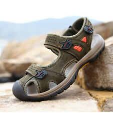Mens Summer Outdoor Casual Slipper Sports Leather Sandals Shoes Fisherman Beach