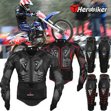 Men Motorcycle Off Road Motocross Riding Guard Jacket Armor Gear Protector M-3XL