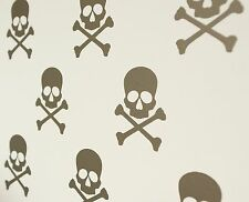Skull & Crossbones Pirate Wall Art Decals/Stickers - Various Colours & Sizes