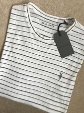 "ALL SAINTS CHALK GREY ""AUGUST TONIC"" CREW T-SHIRT TOP - EXTRA SMALL XS NEW TAGS"