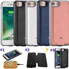 3000mAh Qi Wireless Charger Power Case For iPhone 7 6 Solar Battery Backup Cover