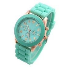 Fashion Geneva Silicone Watch Women Men dress Quartz jelly quartz wrist watch fe