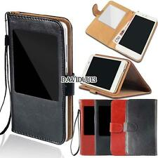 window view Flip Leather Wallet Stand Cover Case For Various Spice Stellar/Xfire