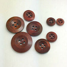 50Pcs 4 Holes Wooden Round Buttons Clothing Buttons DIY Sewing Craft Healthy