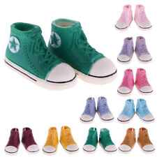 1 Pair High Top Canvas Shoes Lace up Sneaker Sports Shoes for 1/6 BJD Dolls