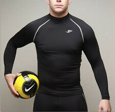 New Mens Compression Under Base Layer Top Tight Long Sleeve T-Shirts