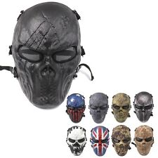 Halloween Airsoft Paintball Full Face Skull Skeleton CS Mask Tactical Military