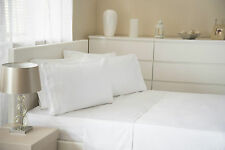 200 Thread Count Combed Cotton Fitted, Flat Sheet, Pillow Case White All Sizes