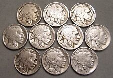 LOT OF 10 BUFFALO NICKELS  * ABOUT GOOD OR BETTER COINS *