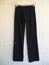 WOMEN'S LULULEMON YOGA PANTS SZ 6 TALL BLACK BOOT CUT PRE OWNED