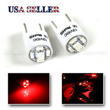 2 X 168 T10 1210 5 CHIPS SMD W5W LED LIGHT BULBS FOR 192 194 2821 2827 RED DIY