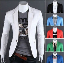 Hot New Fashion Mens Slim Fit Stylish Casual One Button Suit Coat Jacket Blazers
