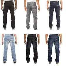 New Enzo Mens Casual Regular Straight Fit Trousers Jeans All Leg & Waist Sizes