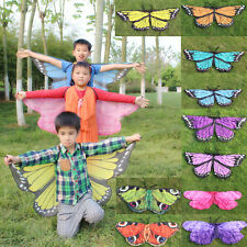 Cosplay Butterfly Wings Dress Up Fabric Costume Pretend Play Kid's Birthday Gift