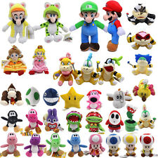 Super Mario Plush Doll Bros. Mario Luigi Koopa Yoshi Stuffed Soft Kids Toys