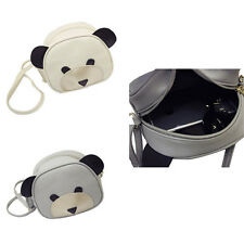 1Pcs PU Leather 2017 Shoulder Bag Girl's Women Handbags Cute bear face