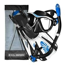 US Divers Panoramic View Snorkeling Gear Set for Women Men Adults Mask Fins Bag