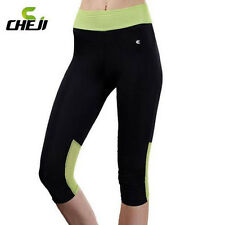 CHEJI Women Bike Tights Cycling Riding 3D GEL Padded Shorts Sports Bicycle Wear
