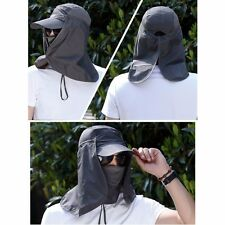 Men Hat Outdoor Camping Visor Cap Fishing Face Neck Cover Sun Protect Hiking Hat