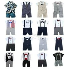 Baby Toddler Boy Wedding Christening Tuxedo Formal Party Suits Outfit Clothes