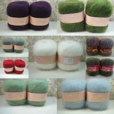 Wholesale! Luxury Angola Mohair Cashmere Wool Yarn Skein Lot Fine 42 Colors!