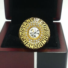 1985 Edmonton Oilers Stanley Cup Hockey Championship Ring 11Size Solid Back