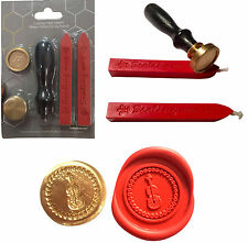 Wax Seal Stamp Set 2 Wax Sticks Violin Musical Instrument Craft Cards Invite 010
