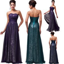Sequins Long Chiffon Formal Evening Dress Celebrity Pageant Party Prom Ball Gown