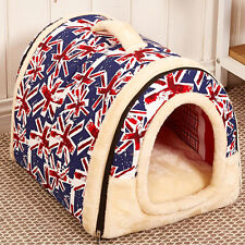 Dog House Nest With Mat Foldable Pet Dog Bed House For Small Medium Large Dogs