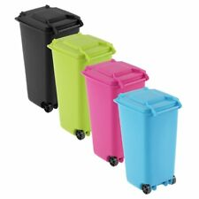 Mini Wheelie Bin Desk Tidy Office Desktop Stationery Organiser Pencil Holder BM