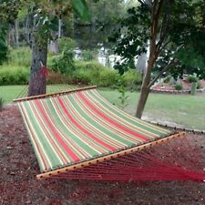 Pawleys Island Trellis Garden Large Quilted Duracord Fabric Double Hammock