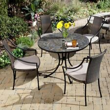 Home Styles Stone Harbor Mosaic Outdoor Dining Set