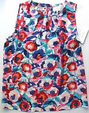 Laundry by Shelli Segal Women Floral Multicolor Sleeveless Blouse XS S M XL NWT