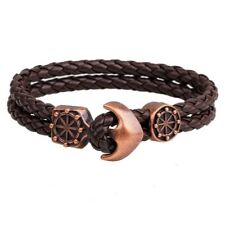 New Fashion Leather Men Bracelet Jewelry Man Anchor Bracelet Wristband Charm Bra