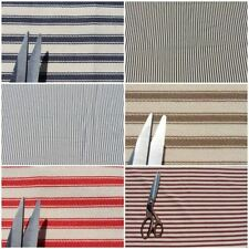 100% COTTON WOVEN TICKING STRIPE DECK CHAIR FURNITURE UPHOLSTERY FABRIC