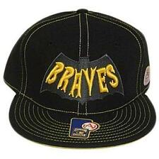 MLB Atlanta Braves Baseball Black Fitted Hat Cap