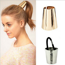 Gold fashion Punk Style Metal Hair Cuff Band Ponytail Holder For Girl Women