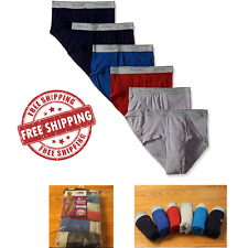Color Mens Briefs Comfort Brief Underwear Fruit Of The Loom 100% Cotton 5 Pack