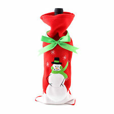 Christmas Wine Champagne Bottle Gift Bag Snowman Festive Holiday Gift +Buckle