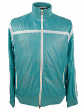 RSRV Enyce Track Jacket Mens Euro Athletic Coat Water Resistant Mesh Lined Blue