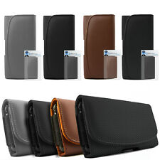 Premium PU Leather Horizontal Belt Pouch Holster Case For Generic Universal