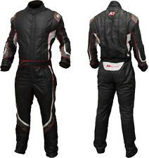K1 - Champ Pro SFI-5 Auto Racing Suit - Nomex Fire Rated Suit - Black / Small