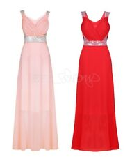 Women's Formal Long Chiffon Wedding Bridesmaid Evening Party Prom Cocktail Dress